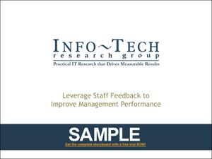 Leverage Staff Feedback to Improve Management Performance ...