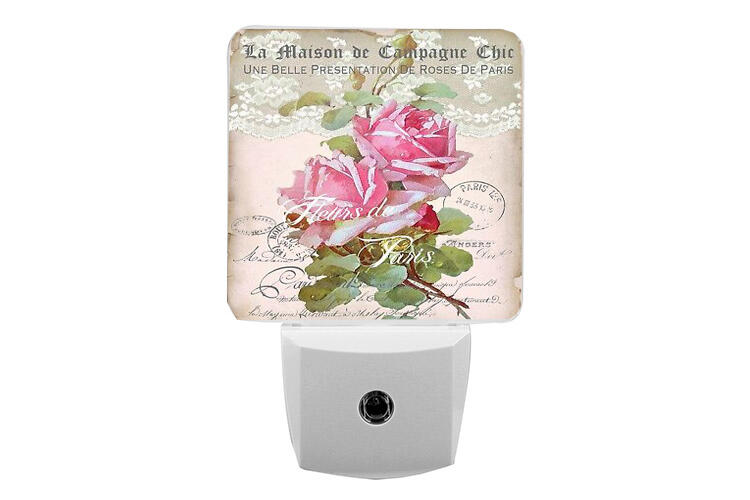 This interior theme often includes furniture and decor with ornate detailing, a curved design, floral painting or appliques as well as a signature heavily distressed painted finish. La Maison Shabby Chic Switch Cover Night Light Cabinet Knob