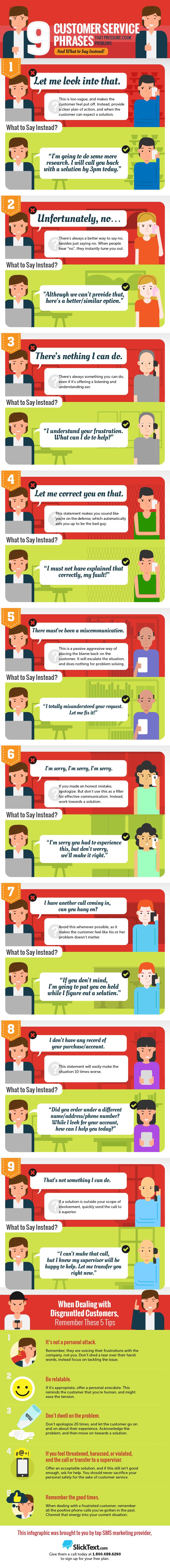 Avoid Bad Customer Service Phrases