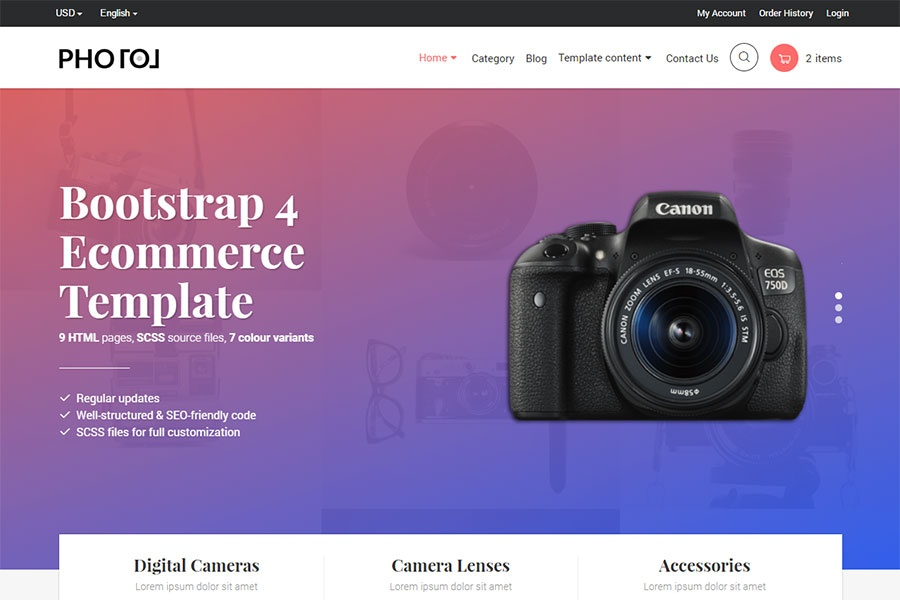 10 ecommerce templates to make your brand stand out · next up webflow template. Bootstrap 4 E Commerce Templates 12 Awe Inspiring Free Premium Themes