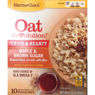 Top 50 most popular instant oatmeal
