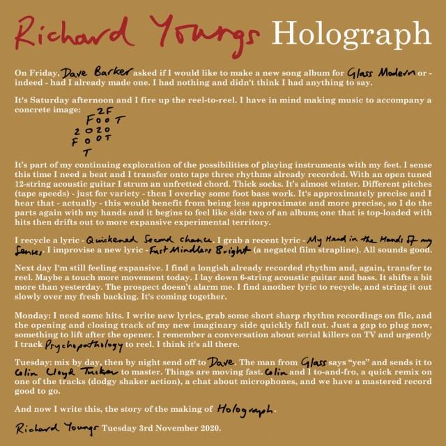 Richard Youngs - Holograph. Bleep.