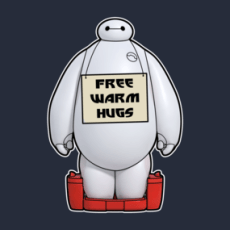 Free warm hugs from baymax TShirts  Design by BoggsNicolas who wouldn't want to be hugged by baymax?