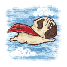 Flying Pug dog Shirts