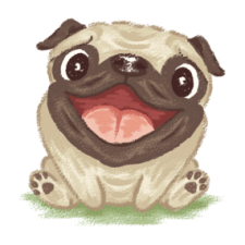 Happy pug dog Shirts
