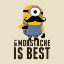 Minion Moustache Shirts. With Moustache... is best!