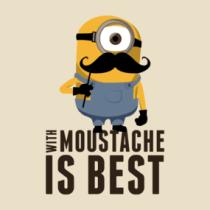 Minion Moustache Shirts. With Moustache... is best!