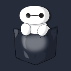 Baymax Pocket Tee  Design by FinalKayden