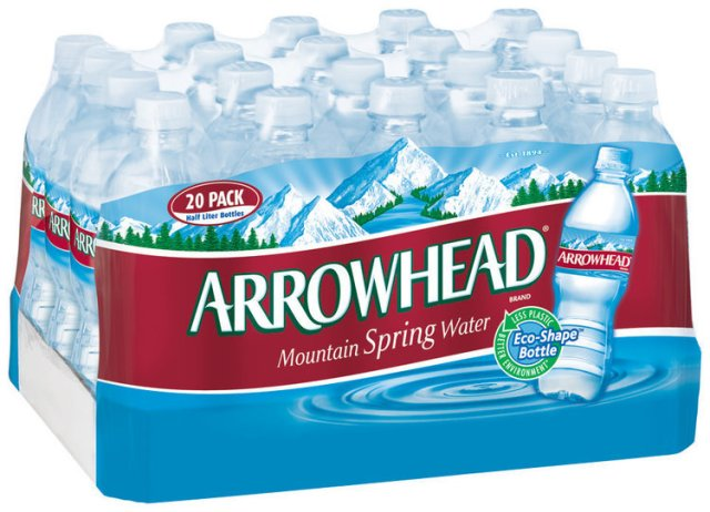 Image result for arrowhead water