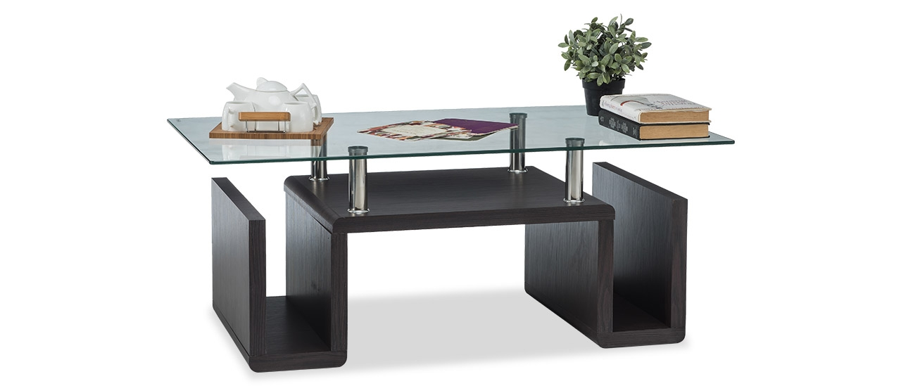 ivara glass coffee table