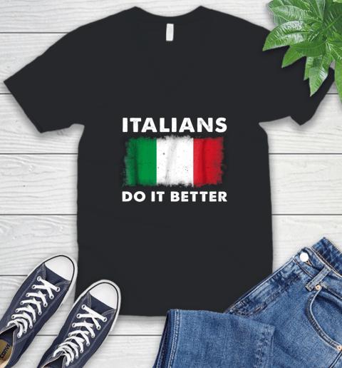 Italians Do It Better V-Neck T-Shirt