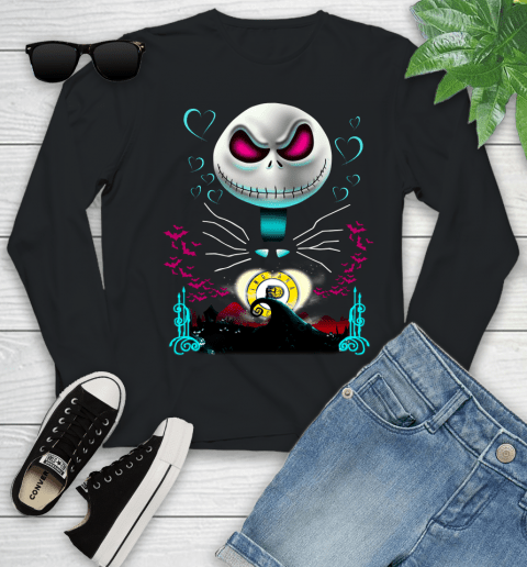 NBA Indiana Pacers Jack Skellington Sally The Nightmare Before Christmas Basketball Sports_000 Youth Long Sleeve