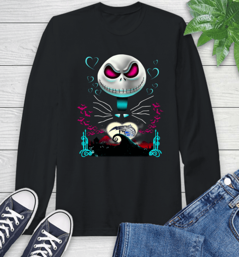 NBA Orlando Magic Jack Skellington Sally The Nightmare Before Christmas Basketball Sports_000 Long Sleeve T-Shirt