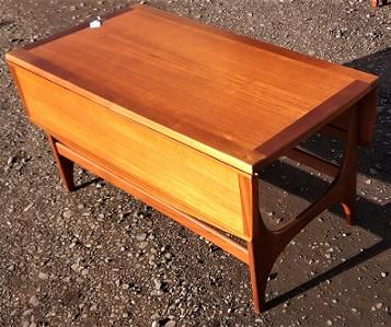 stonehill stateroom teak drop leaf table