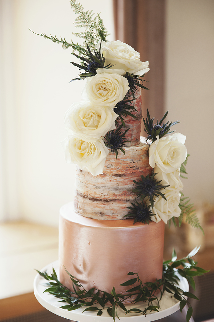 Rustic Metallic Geometric Styled Shoot With Cakes