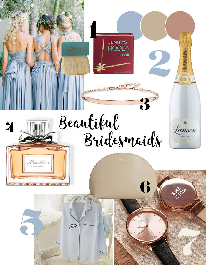 Personalised Gifts For Your Bridesmaids Scottish Wedding Directory