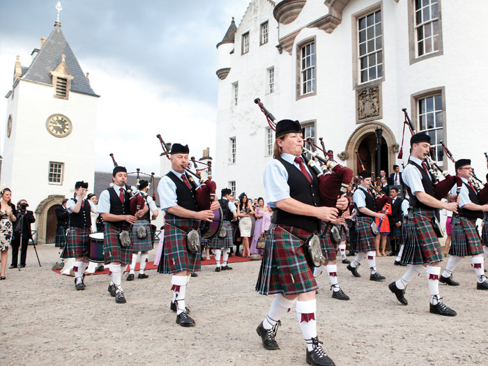 wedding pipers