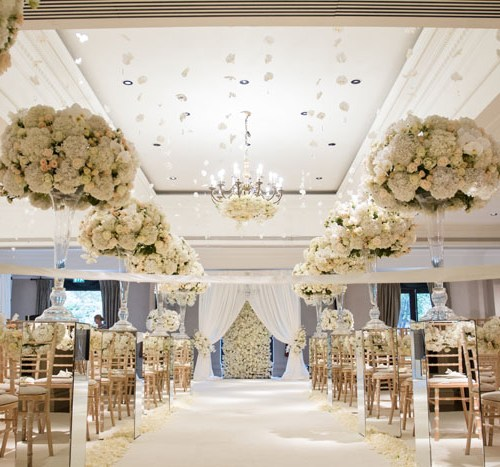 wedding flower suspensions