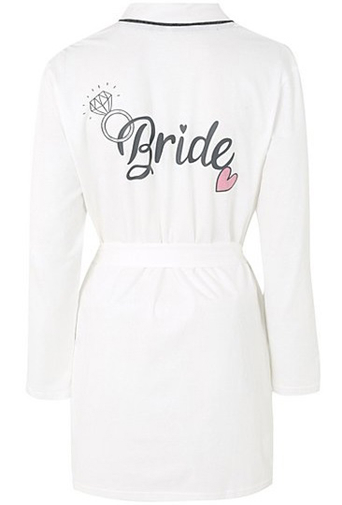Stylish bride and bridesmaid dressing gowns Asda Bride