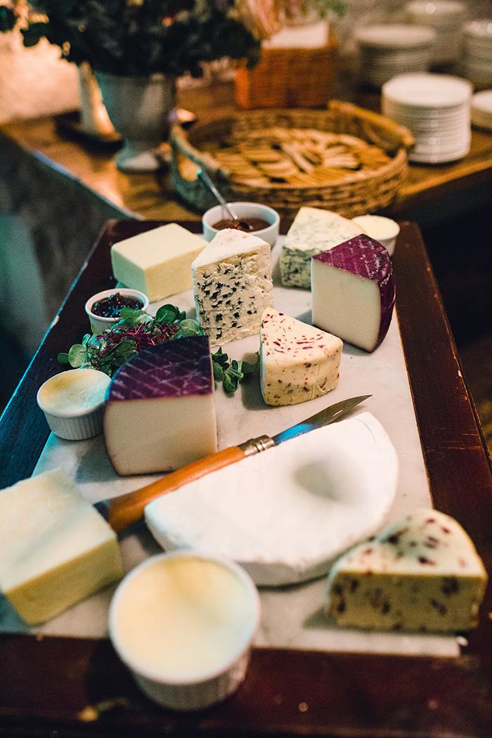 Dalduff Farm rustic barn wedding The Gibsons cheese table