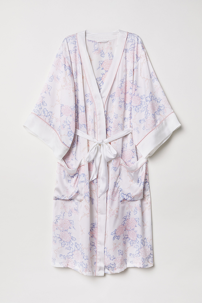 Stylish bride and bridesmaid dressing gowns H&M