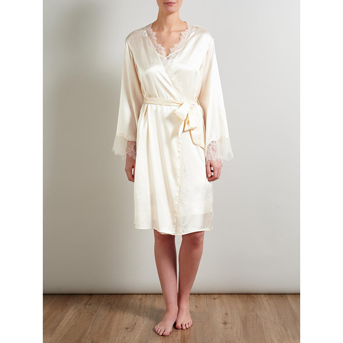 Stylish bride and bridesmaid dressing gowns Temperley John Lewis