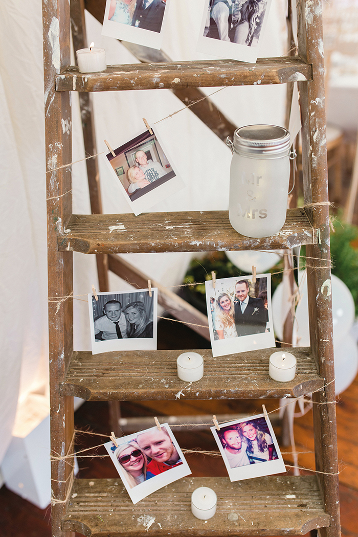 Dalduff Farm rustic barn wedding The Gibsons wedding photo ladder