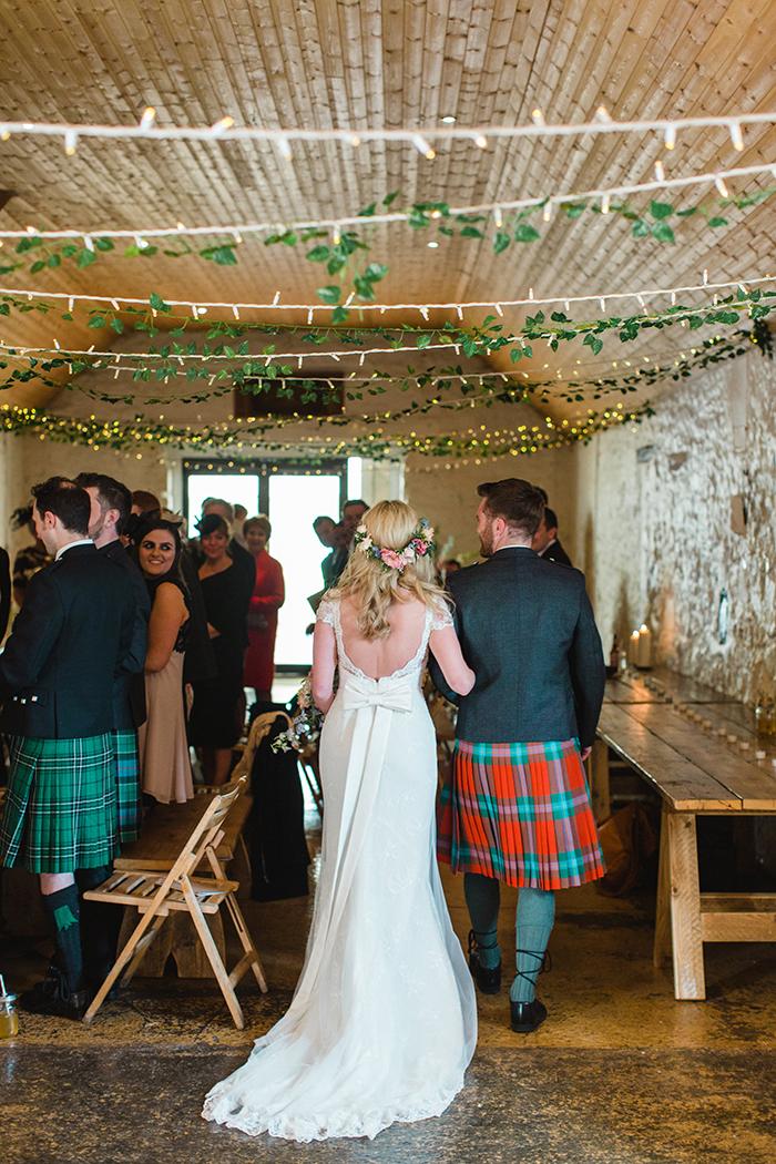 Dalduff Farm rustic barn wedding The Gibsons ceremony