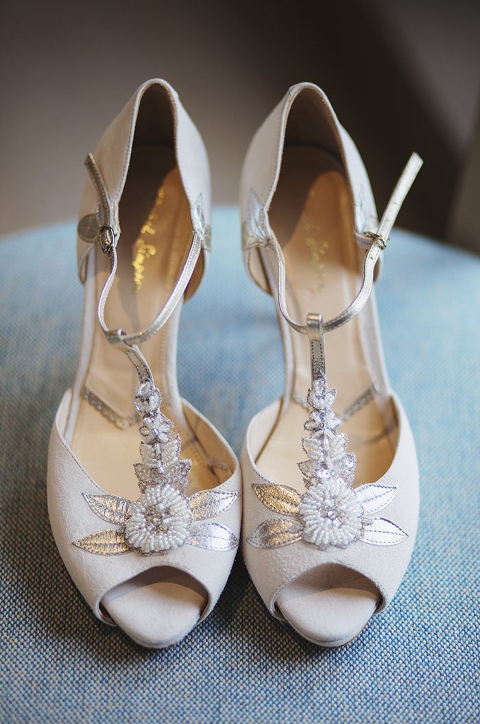 Real Wedding at The Waterside Hotel Ayrshire. Laura A Tiliman Photography. Bride shoes