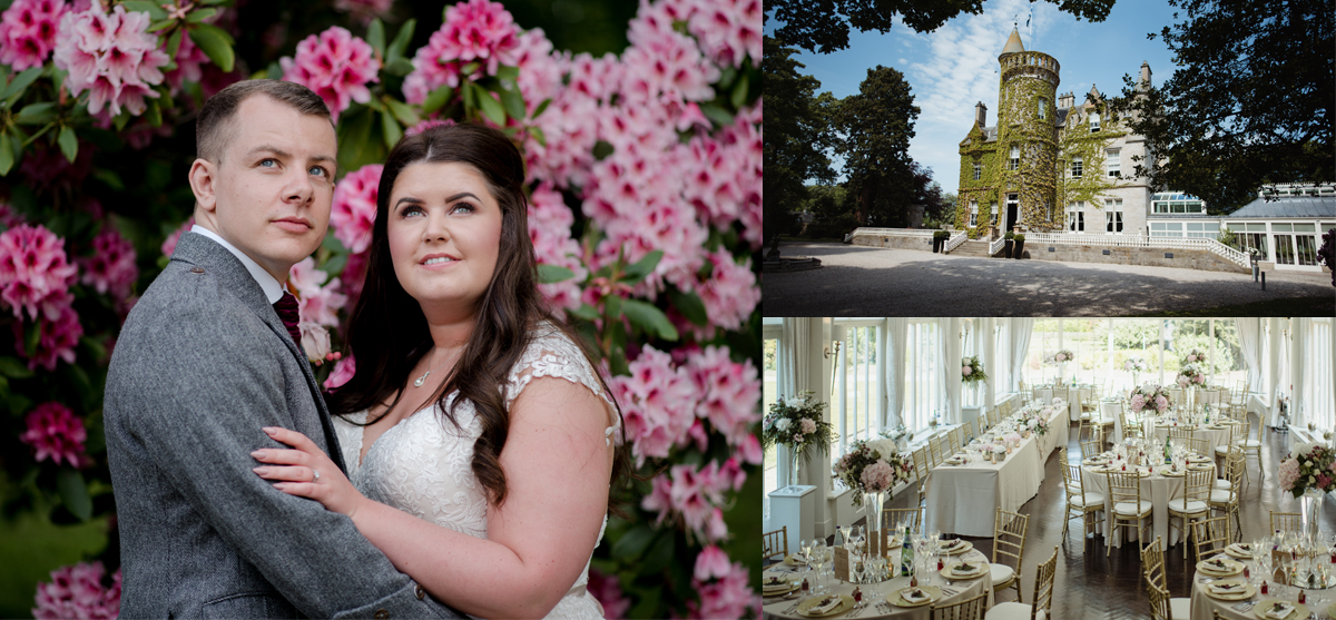 Romantic + delicate floral wedding day at Carlowrie Castle, West Lothian