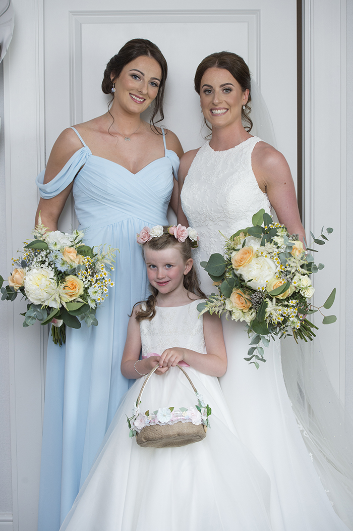 Pastel wedding Seamill Hydro Tom Gibson Photo