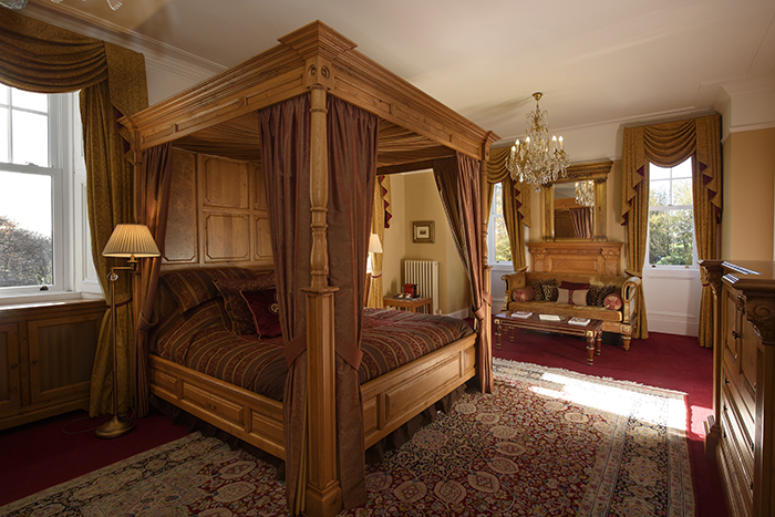 Bridal suite at Turin Castle, Angus