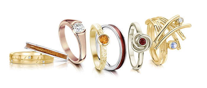 Sheila Fleet Jewellery autumn-inspired rings