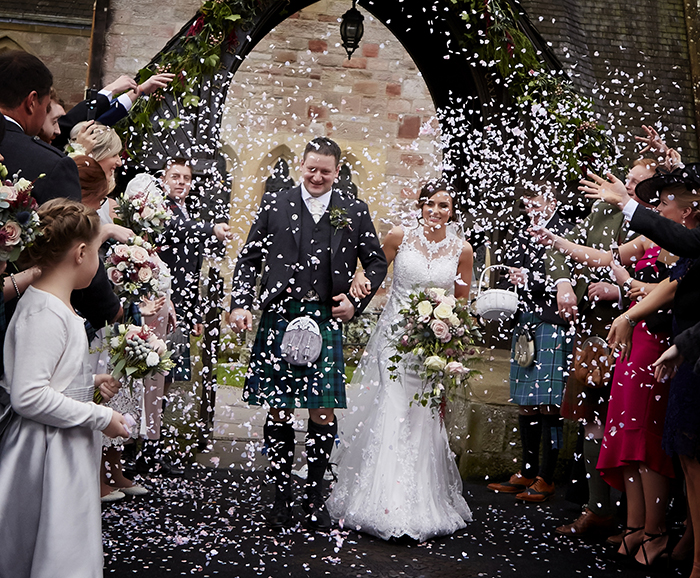 winter wedding Drimsynie Estate