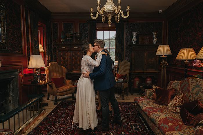 autumnal themed wedding at Prestonfield House, Edinburgh