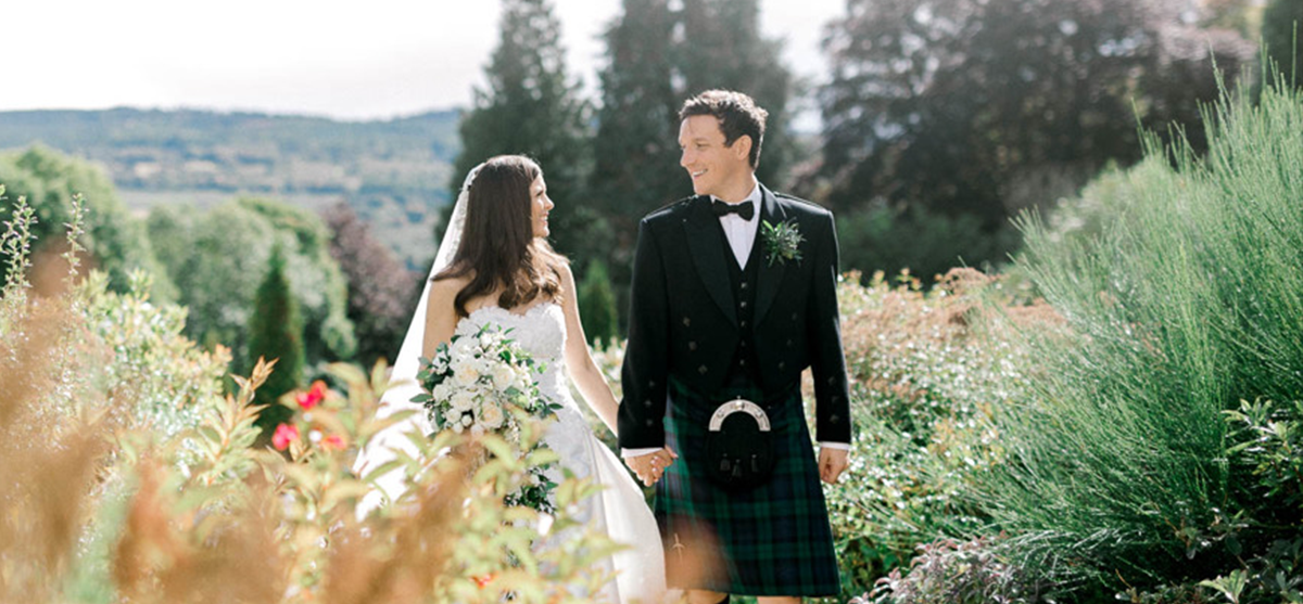 Bringing the Scottish outdoors inside at this stunning Achnagairn Castle wedding