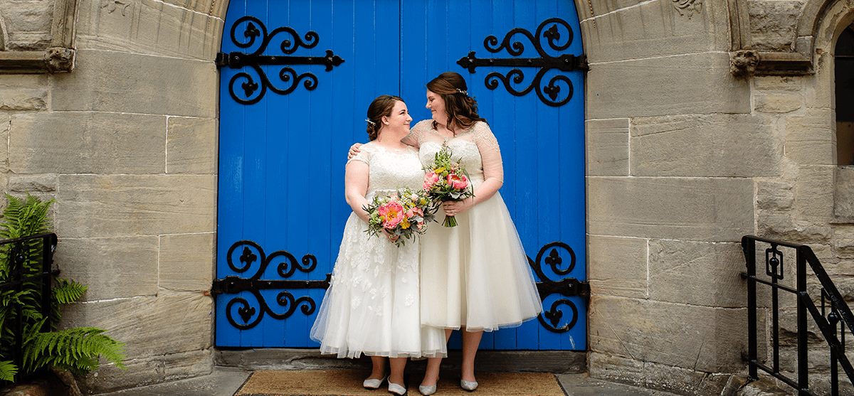 Bright + colourful wedding day with beautiful DIY touches at Killearn Village Hall, near Loch Lomond