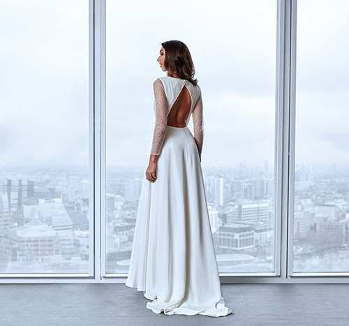 9a959abacdcf9 Andrea Hawkes Bridal brings simply chic style to Rachel Scott Couture,  Edinburgh