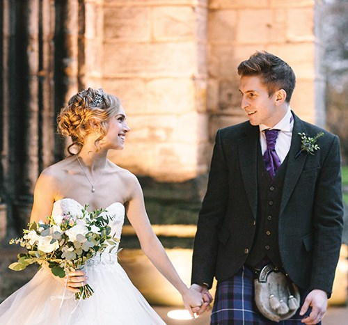 9ff1ce6c1a7ab Scottish Ballet star Bethany Kingsley-Garner's wedding at The People's  Palace, Glasgow