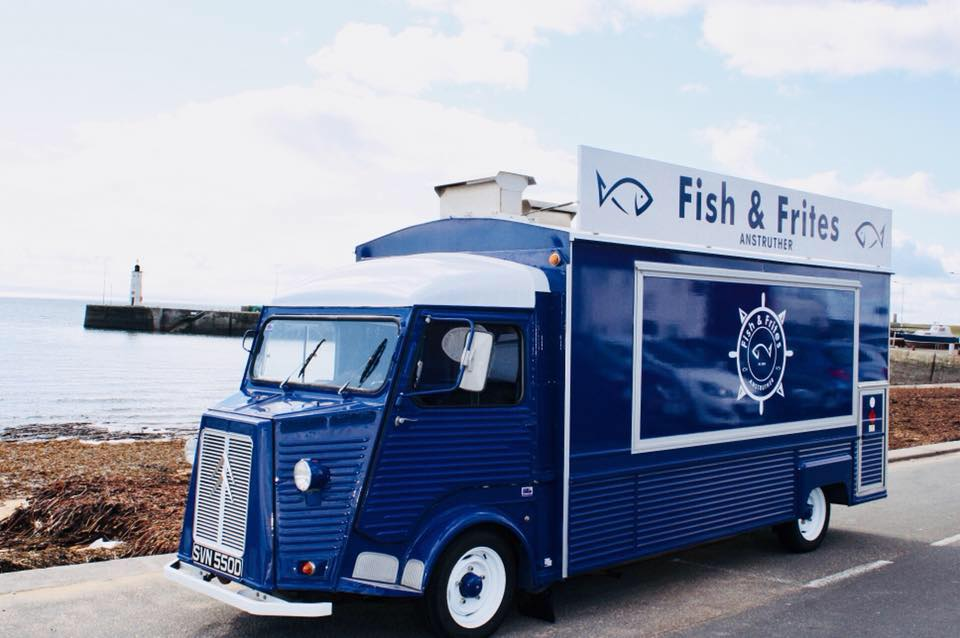 Fish and Frites van to hire wedding scotland