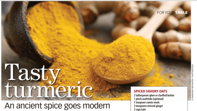 Mention of Turmeric in Costco Connection