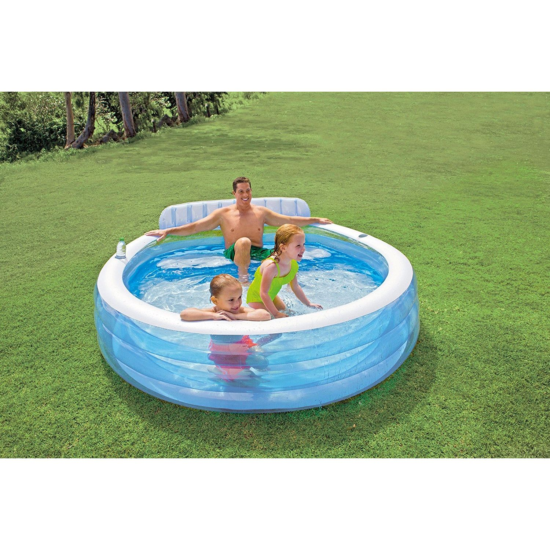 intex 57190np piscine gonflable avec fauteuil 224x216x76 cm 590l