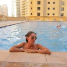 The swimming pool at the Jumeirah Beach Residence