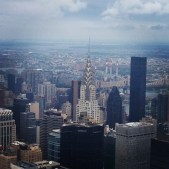 View of the Chrysler Building from Empire State Building