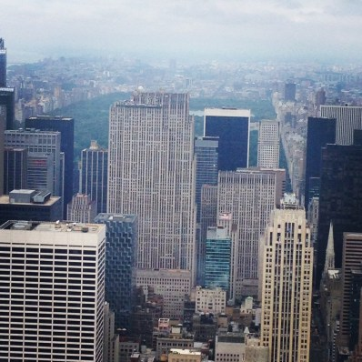 View of the Central Park from Empire State Building