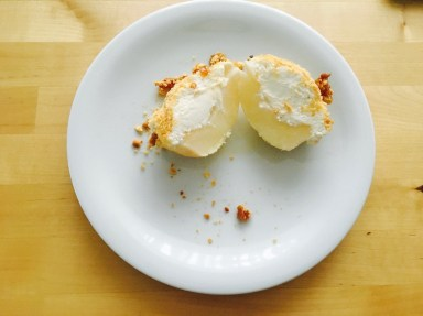 Pears with ricotta