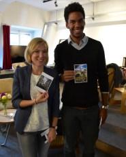 #InLoveWithSwitzerland #Postcards, VERNISSAGE, two of ten winners: Heike Dennhard and Joel Berney