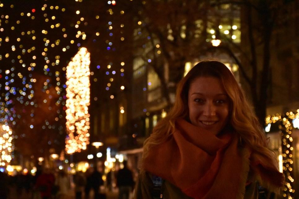 Christmas lights in Zurich, Bahnhofstrasse