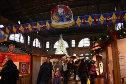 ZURICH CHRISTKINDLIMARKT (CHRISTMAS MARKET) AT THE MAIN TRAIN STATION.