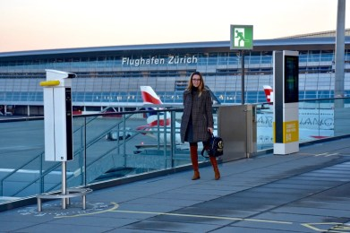 Observation deck at the Zurich airport